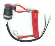 Boat Motor Kill Stop Switch And Safety Tether Lanyard Cord For Yamaha Outboard Us