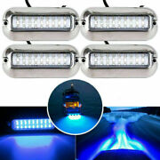 4pcs 27led Blue Underwater Pontoon Marine Boat Yacht 12v Transom Light Tail Lamp