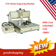 Usb 4 Axis 6090 1500w Cnc Router Engraver Engraving Carving Milling Machine