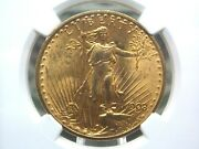 1908 20 Gold Saint Gaudens No Motto Ngc Ms64+ Plus Eccandc Inc.