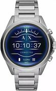 Armani Exchange Menand039s Smartwatch Touchscreen Axt2000 Silver Stainless Steel