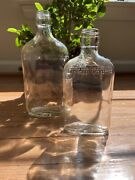 Two Vintage/antique Glass Liquor Bottles - Schenley