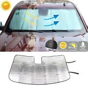 Front Window Foldable Windshield Sun Shade Visor Cover For Chevy Silverado 14-17