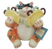 Vintage 2001 Whimsiclay Tommy Taco Cat Figurine By Amy Lacombe Rare Htf