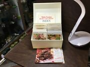 1971 The Betty Crocker Recipe Card Library With Index Vintage Cookbook White Box