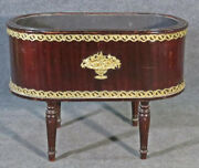 Rare French Mahogany Metal Lined Bronze Mounted Louis Xvi Style Cellarette