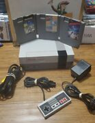 Nes Nintendo Console System Bundle 3 Games 1 Controllers And New 72 Pin