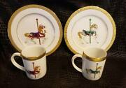 Gold Buffet Royal Gallery 1991 Carousel Horse Plates And Cups Lot Set China