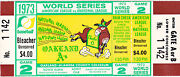 1973 World Series Full Ticket Aand039s And Mets Game 2