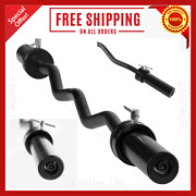 """47"""" Cap Barbell Olympic Ez Curl Bar With Collars Weight 15 Lbs Capacity 200 Lbs"""