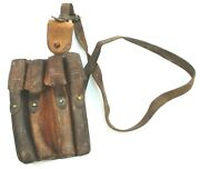 Vintage Serbian Army Leather Ammo Magazine Pouch / Shoulder Bag No7