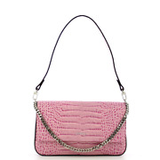 New Iuntoo - Baguette Bag In Leather With Flap Eleganza Cocco - 168018 - Lilla A