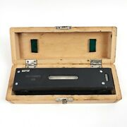 Vintage Vis 8 Machinist Precision Level 0.0005in / 10in W/case Made In Poland