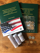 Coin Collecting Starter Kit - 127 Coins Total Coin Folders Proof Set B4