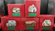 Complete Set Of 5vtg 1994 Hallmark Ornaments Sarah Plain And Tall Town Collection