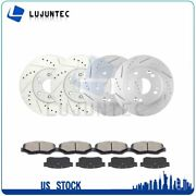 Front Rear Ceramic Pads And Rotors Brake For 2005-2008 Ford F-250 Super Duty