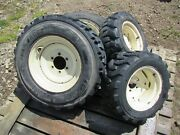 Cub Cadet 3284 7252 7284 Compact Tractor Front And Rear Tires And Rims - Set Of 4