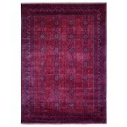 8'3x11'5 Hand Knotted Deep Red Afghan Khamyab Natural Dyes Wool Rug G67702
