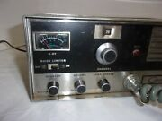 Vintage Courier 23 Cb Base Station Tube Radio Early 60s Powers On With Jm+3 Mic