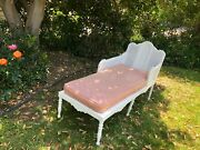 Antique White Chaise Lounge Or Daybed Art Deco Gorgeous