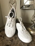 Clarks Womens Leather Tennis 6.5