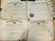 Lot Of 4 Presidential Signed Appointments Harding Hoover Wilson And Coolidge