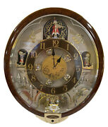 Seiko Melodies In Motion Wall Clock Qxm481brh Collectorandrsquos Edition Xmas