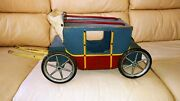 Vintage Stagecoach Pull Toy Early 1900
