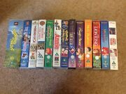 Assorted Disney Childrenand039s Vhs Video Tape Films X 12