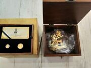 H.m.a.v Bounty 2 Gold Coins Set 2008 Pitcarin Islands With Sextant