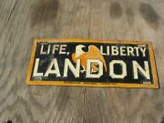 Old Life Liberty Landon License Plate Tag Sign Republican National Committee