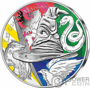 Four Houses Harry Potter Silver Coin 50andeuro Euro France 2021