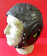 Army Air Forces Pilotandrsquos Type A-11 Leather Flying Helmet-size Large