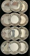 Antique Kirk And Son Sterling Silver Repousse Bread And Butter Plates 12 Piece