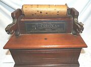 Old 1880and039s Concert Roller Organ Hand Crank Reed Pipe Clariona