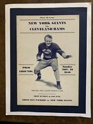 1940 Cleveland Rams Vs New York Giants Nfl Football Program/in Mint Condition