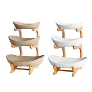 3-layer Fruit Basket Snack Nuts Candy Serving Bowls Dish Display Stand