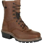 Rocky Square Toe Logger Waterproof Work Boot