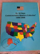 Complete One Set Of My 50 State Commemorative Quarters Collection 1999-2008