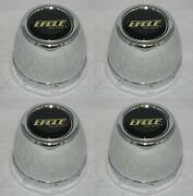 Set Of 4 Eagle Alloys Chrome Steel Wheel Rim Center Cap 3-1/8 Dia Bore Snap In