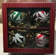 Waterford Holiday Heirlooms, Set Of Four Christmas Ornaments 148336