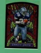 1997 Topps Gallery Of Heroes Emmitt Smith Stained Glass Die-cut Insert Cowboys