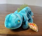 Ultra Rare. Ty Original Beanie Baby Collection 1997. Iggy Seen With Hang Tag