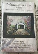 Covered Bridge Watercolor Quilt Kit By Whims Easy To Make