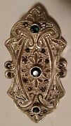 Vintage Art Deco, Sterling Silver, Emerald, And Marcasite Brooch 1 By 2.