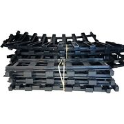 Lionel Polar Express O Scale Train Track Lot 16 Pieces Curved Straight Set Black