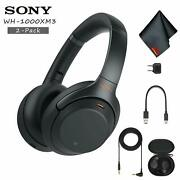 Sony Wh-1000xm3 Wireless Noise-canceling Over-ear Headphones Black Includes 2-