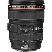 Canon Ef 24-105mm F/4l Is Usm Autofocus Wide Angle Telephoto Zoom Lens White Box