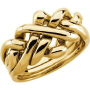 14k Yellow Gold Menand039s 4 Piece Puzzle Ring