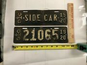 Collectible 1920 Ohio Motorcycle Side Car Plate W/1920 Motorcycle License Plate